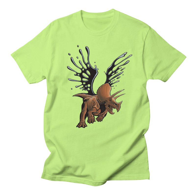 Triceratops Tar & Feathered Men's Regular T-Shirt by Crab Saw Apparel