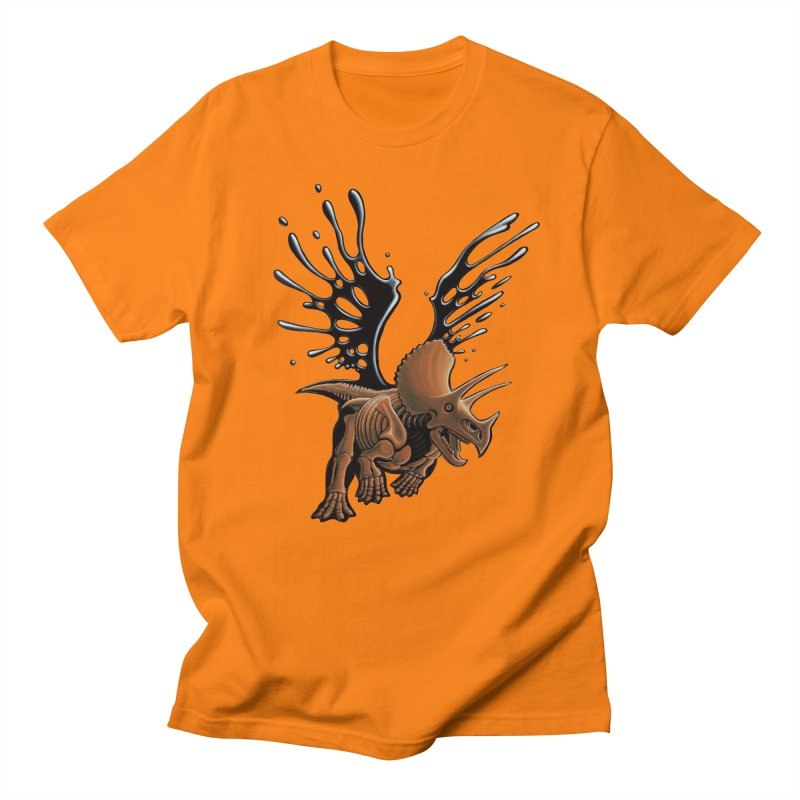 Triceratops Tar & Feathered Men's T-Shirt by Crab Saw Apparel