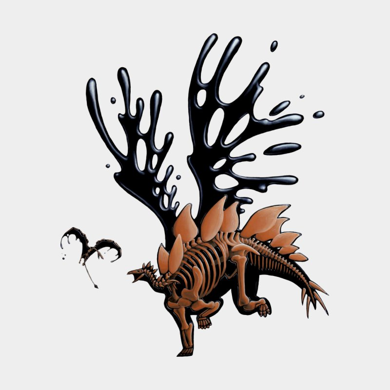 Stegosaurus Tar & Feathered by Crab Saw Apparel