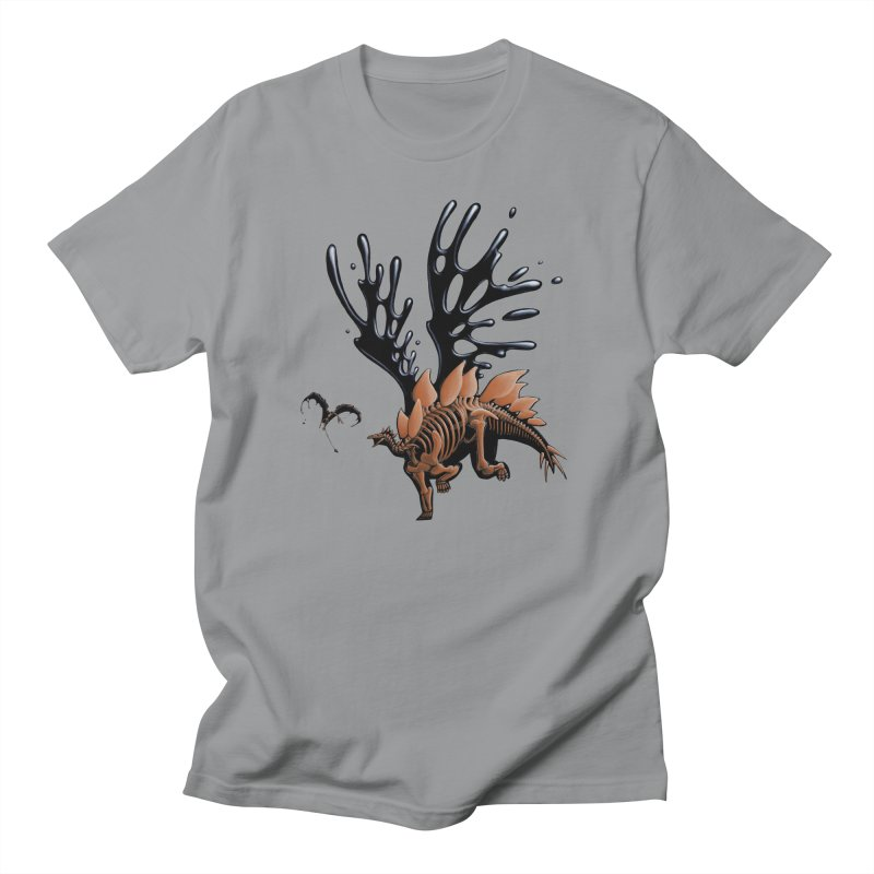 Stegosaurus Tar & Feathered Women's Regular Unisex T-Shirt by Crab Saw Apparel