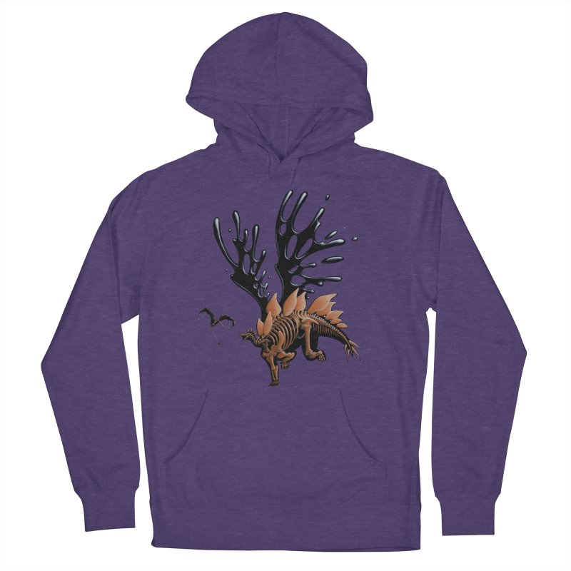 Stegosaurus Tar & Feathered Women's French Terry Pullover Hoody by Crab Saw Apparel