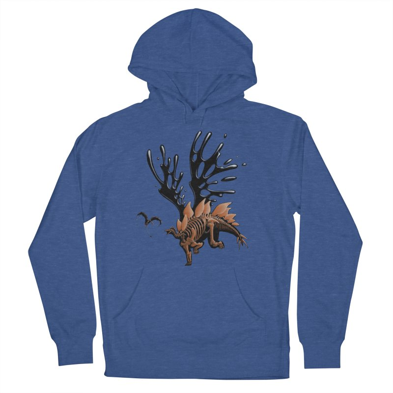 Stegosaurus Tar & Feathered Men's French Terry Pullover Hoody by Crab Saw Apparel