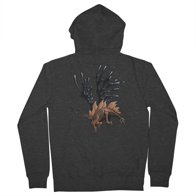 Stegosaurus Tar & Feathered Women's French Terry Zip-Up Hoody by Crab Saw Apparel