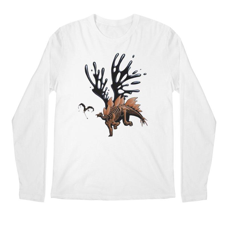Stegosaurus Tar & Feathered Men's Regular Longsleeve T-Shirt by Crab Saw Apparel