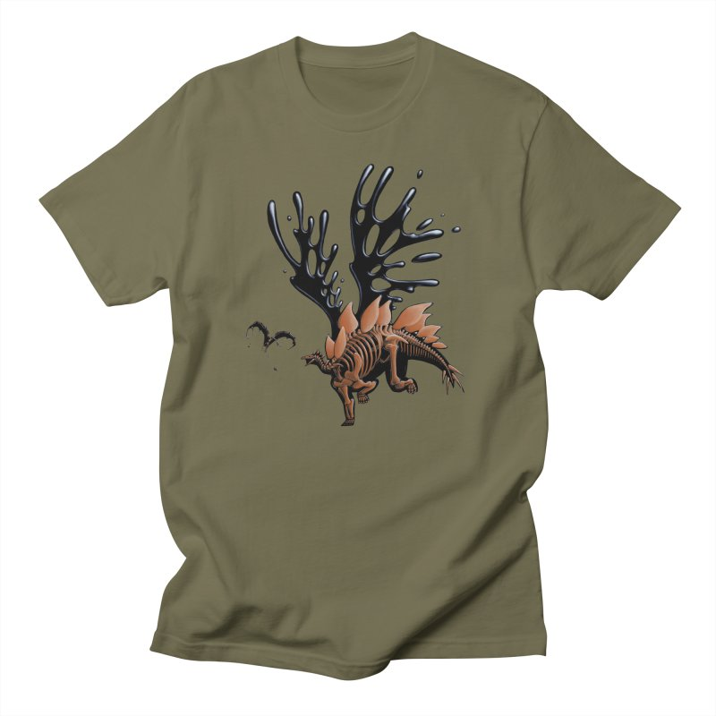 Stegosaurus Tar & Feathered Men's T-Shirt by Crab Saw Apparel