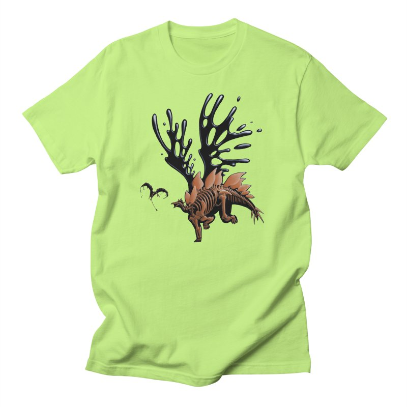 Stegosaurus Tar & Feathered Women's Regular Unisex T-Shirt by Crab Saw Apparel