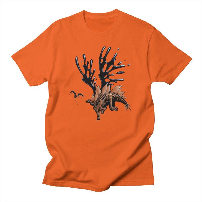 Stegosaurus Tar & Feathered Men's T-Shirt by Crab Saw Apparel