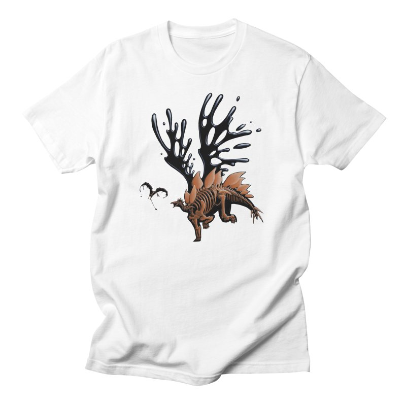 Stegosaurus Tar & Feathered Men's Regular T-Shirt by Crab Saw Apparel