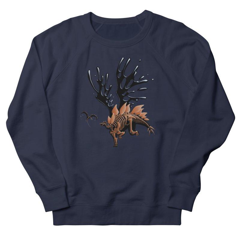 Stegosaurus Tar & Feathered Women's French Terry Sweatshirt by Crab Saw Apparel