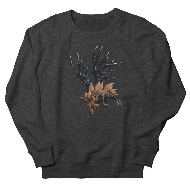 Stegosaurus Tar & Feathered Men's French Terry Sweatshirt by Crab Saw Apparel