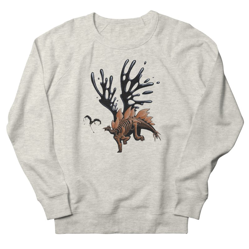 Stegosaurus Tar & Feathered Men's French Terry Sweatshirt by Crab Saw Apparel