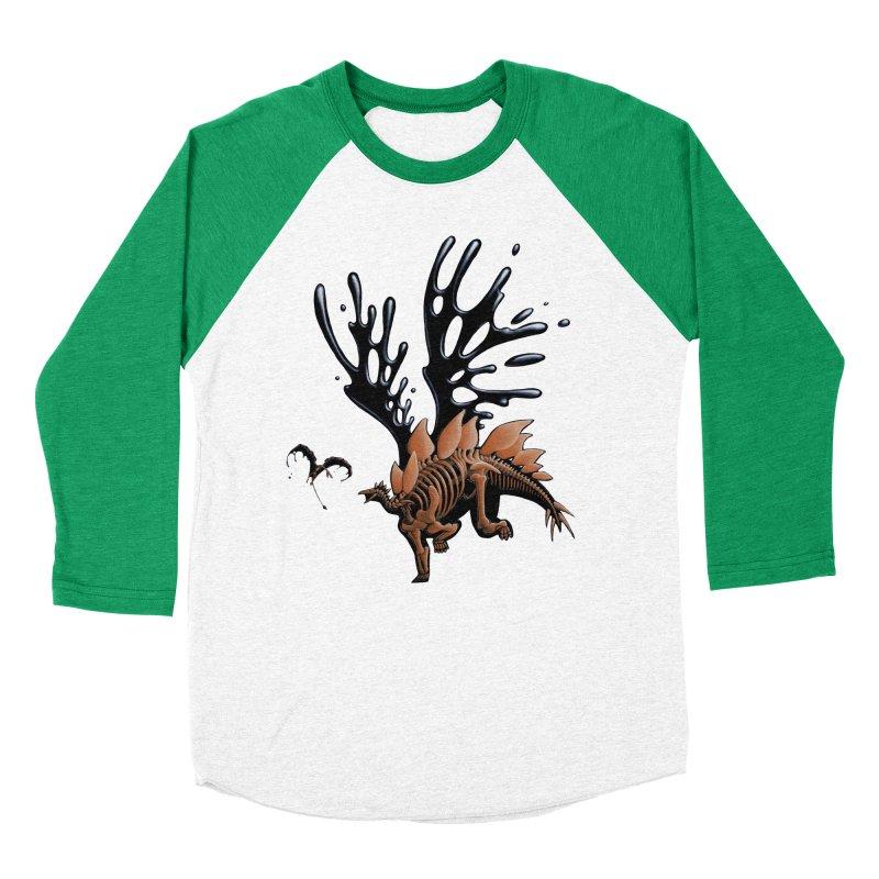 Stegosaurus Tar & Feathered Women's Baseball Triblend Longsleeve T-Shirt by Crab Saw Apparel