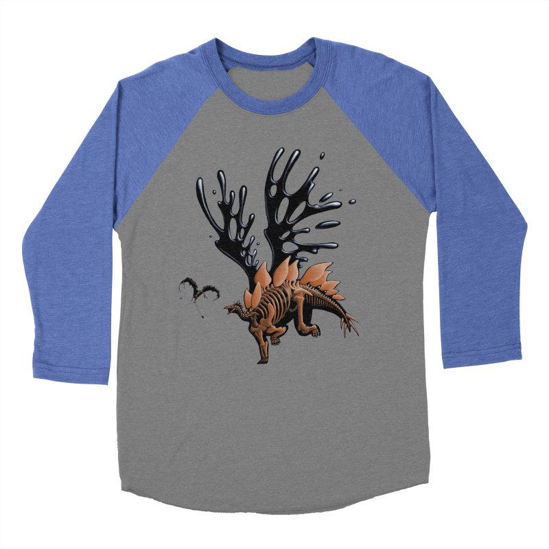 Stegosaurus Tar & Feathered Women's Baseball Triblend Longsleeve T-Shirt by Crab Saw Apparel