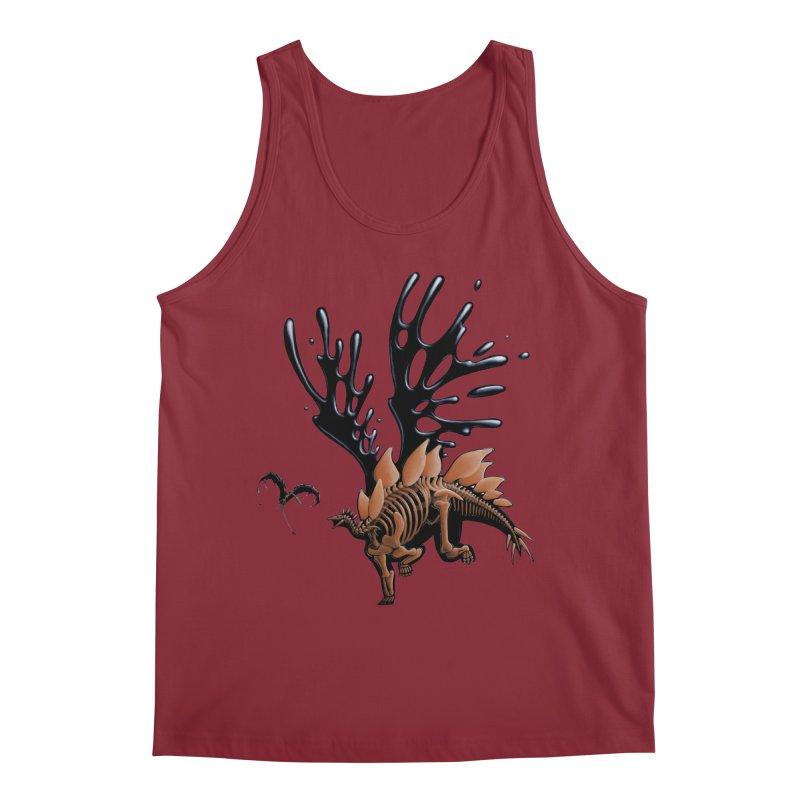 Stegosaurus Tar & Feathered Men's Tank by Crab Saw Apparel
