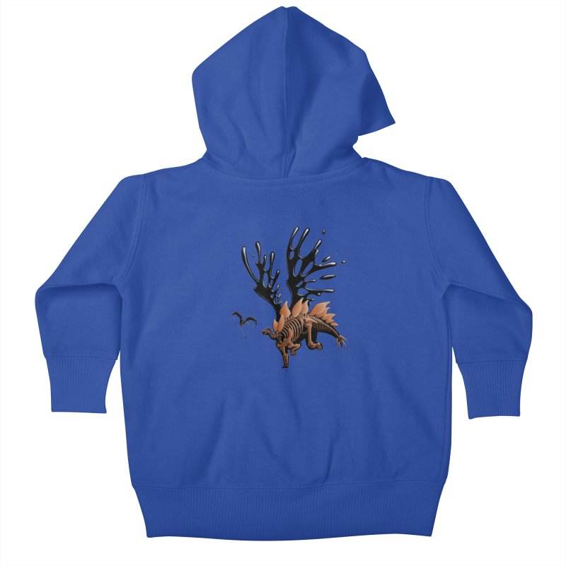 Stegosaurus Tar & Feathered Kids Baby Zip-Up Hoody by Crab Saw Apparel