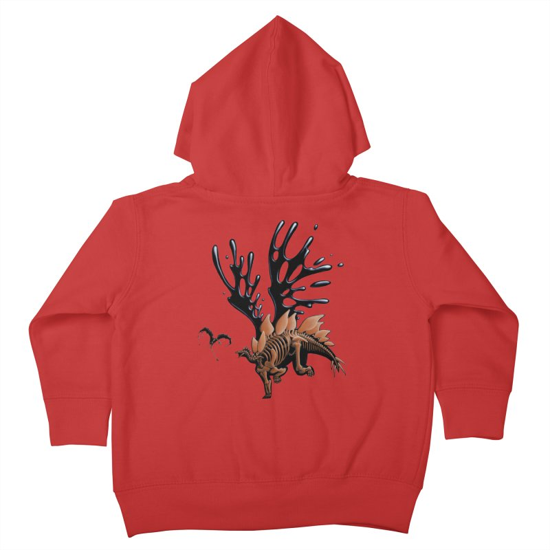 Stegosaurus Tar & Feathered Kids Toddler Zip-Up Hoody by Crab Saw Apparel