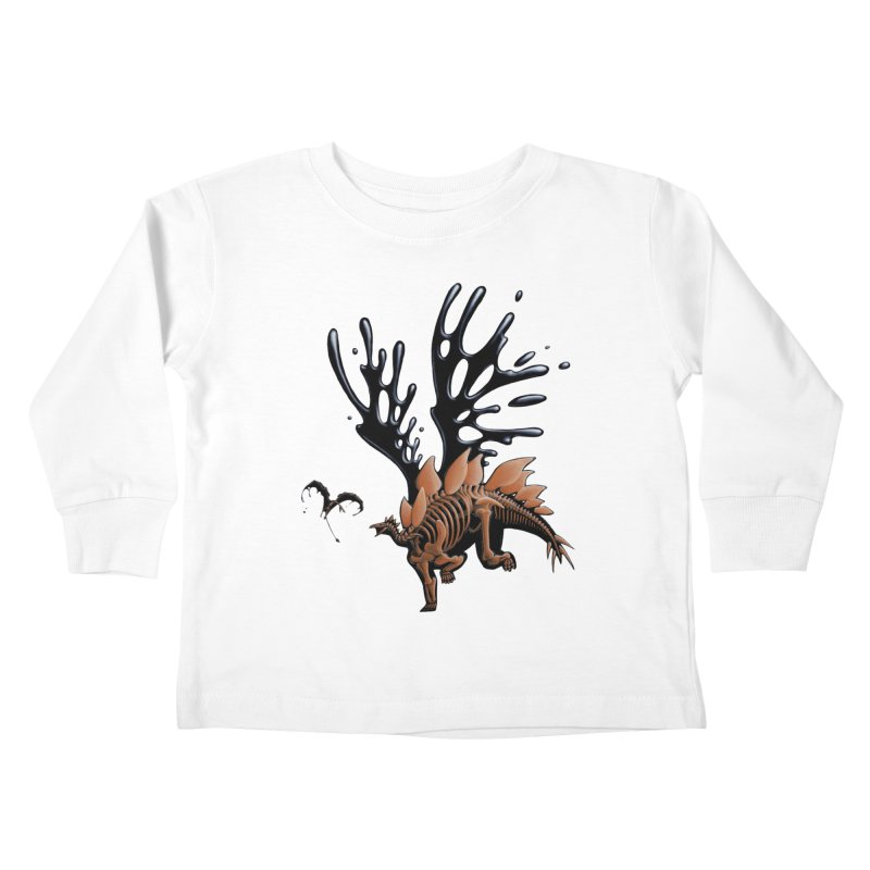 Stegosaurus Tar & Feathered Kids Toddler Longsleeve T-Shirt by Crab Saw Apparel