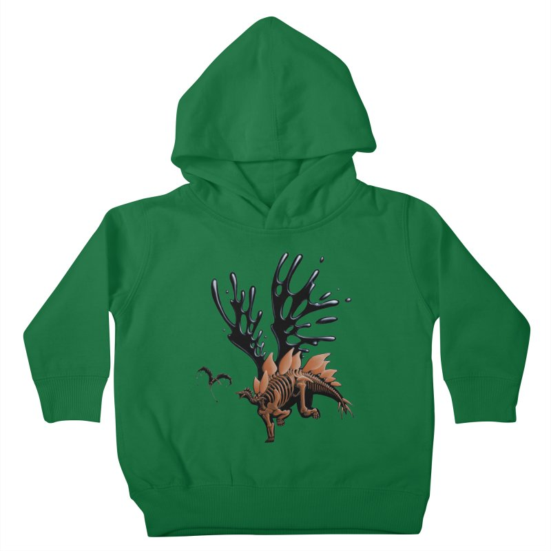 Stegosaurus Tar & Feathered Kids Toddler Pullover Hoody by Crab Saw Apparel