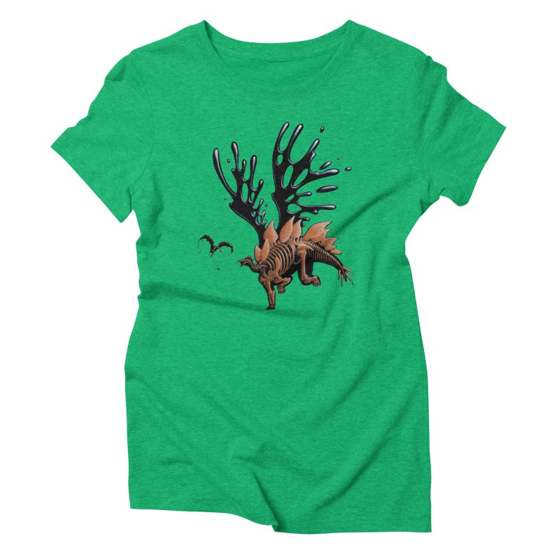 Stegosaurus Tar & Feathered Women's Triblend T-Shirt by Crab Saw Apparel