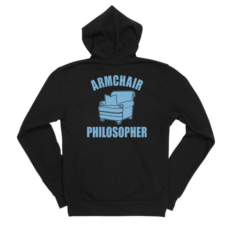 Armchair Philosopher Women's Sponge Fleece Zip-Up Hoody by Toxic Onion