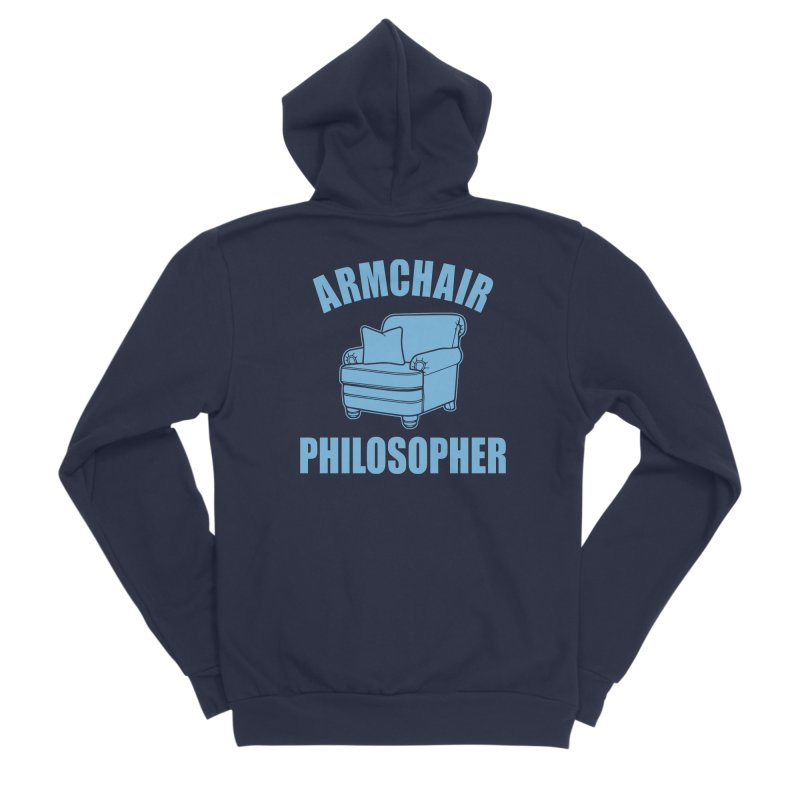Armchair Philosopher Men's Sponge Fleece Zip-Up Hoody by Toxic Onion