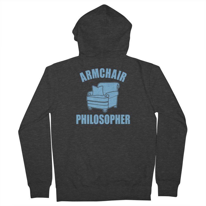 Armchair Philosopher Women's French Terry Zip-Up Hoody by Toxic Onion