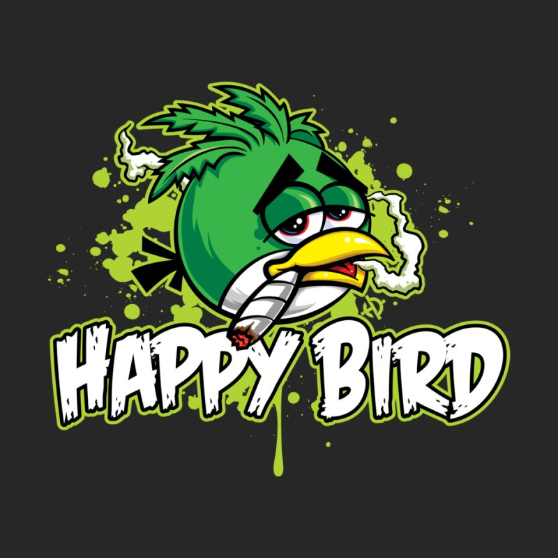 Happy Bird Men's V-Neck by Toxic Onion