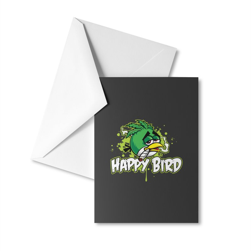 Happy Bird Accessories Greeting Card by Toxic Onion