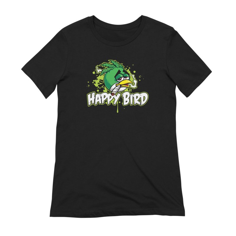 Happy Bird Women's T-Shirt by Toxic Onion