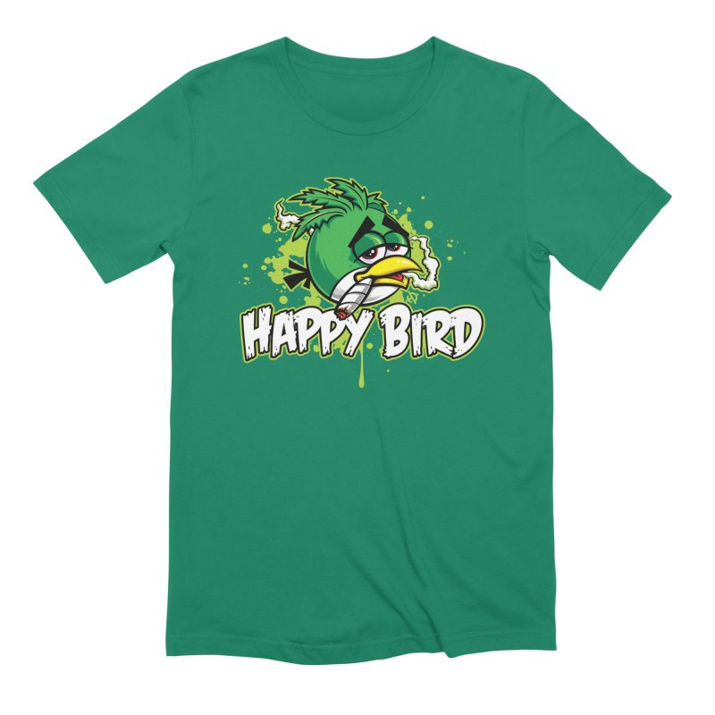 Happy Bird Men's T-Shirt by Toxic Onion