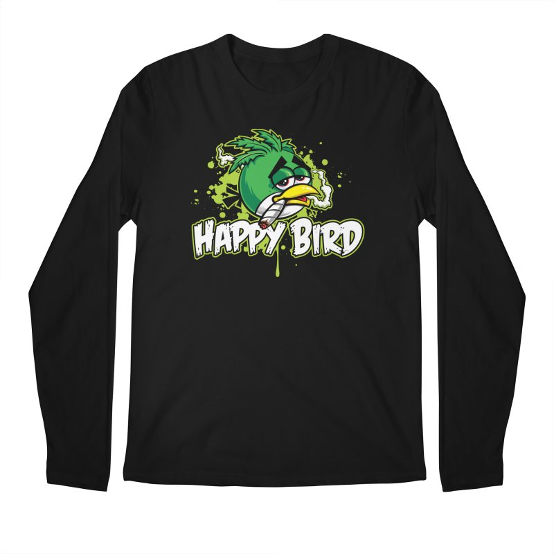 Happy Bird Men's Longsleeve T-Shirt by Toxic Onion