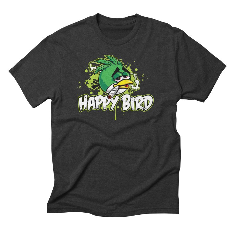 Happy Bird Men's T-Shirt by Toxic Onion
