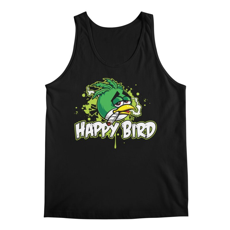 Happy Bird Men's Tank by Toxic Onion