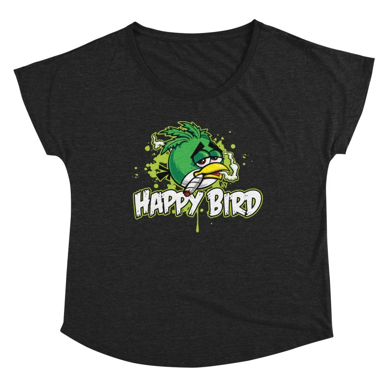 Happy Bird Women's Scoop Neck by Toxic Onion