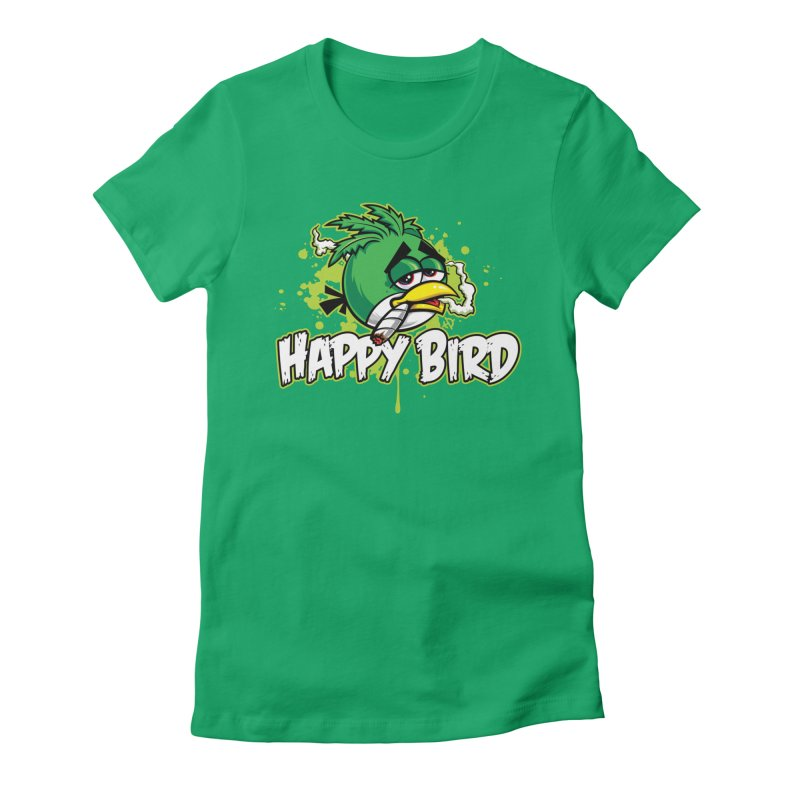 Happy Bird Women's T-Shirt by Toxic Onion