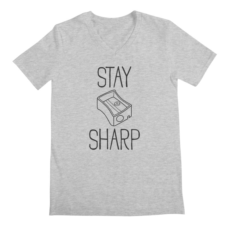 Stay Sharp Men's V-Neck by Toxic Onion - A Popular Ventures Company