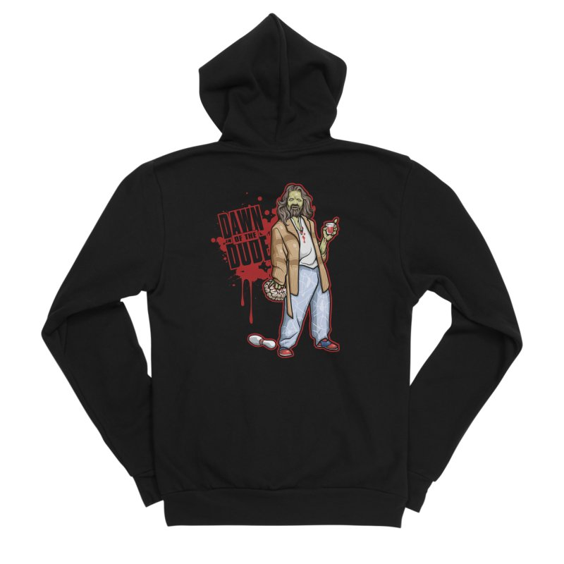 Dawn Of The Dude Men's Sponge Fleece Zip-Up Hoody by Toxic Onion