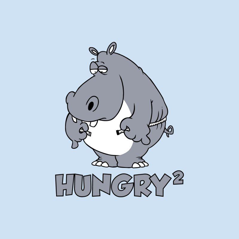 Hungry Squared Men's T-Shirt by Toxic Onion