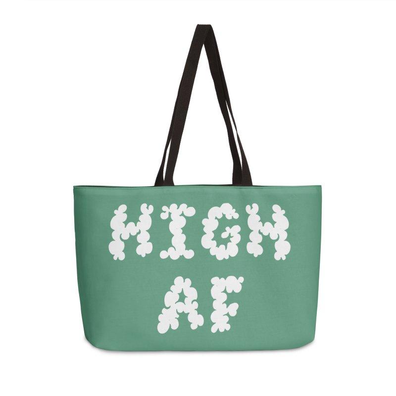 High AF Accessories Weekender Bag Bag by Toxic Onion