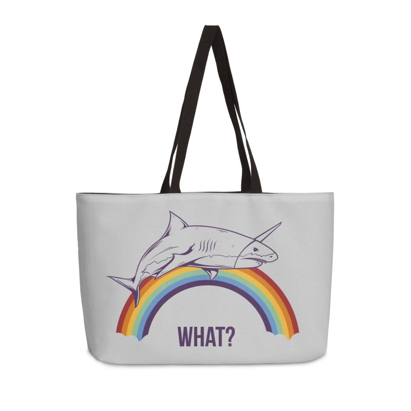 What? Accessories Weekender Bag Bag by Toxic Onion