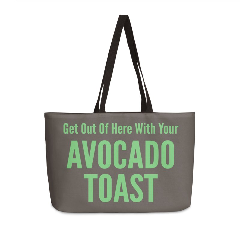 Avocado Toast Accessories Weekender Bag Bag by Toxic Onion