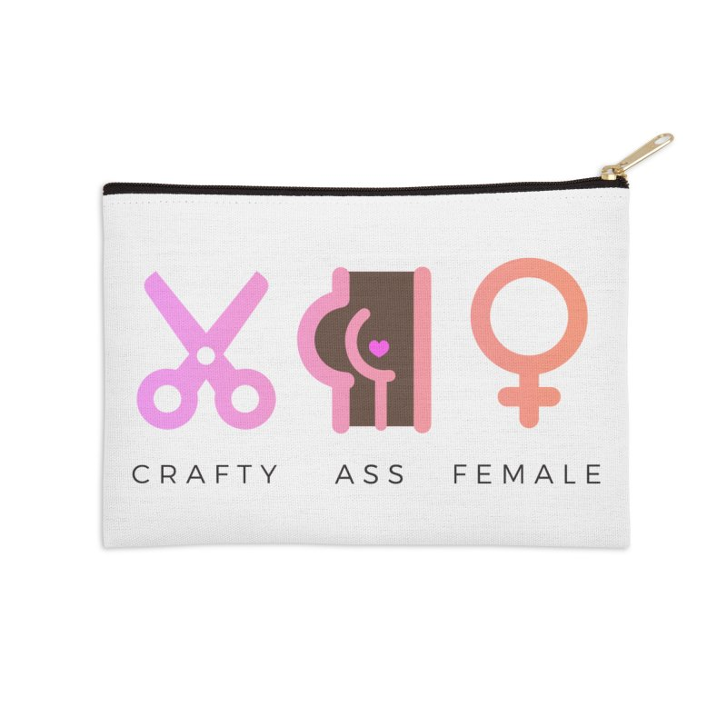 Cocoa Accessories Zip Pouch by Crafty Ass Female's Merch Shop