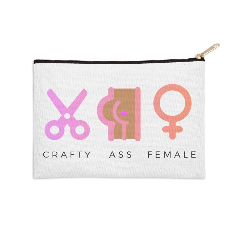 Caramel in Zip Pouch by Crafty Ass Female's Merch Shop