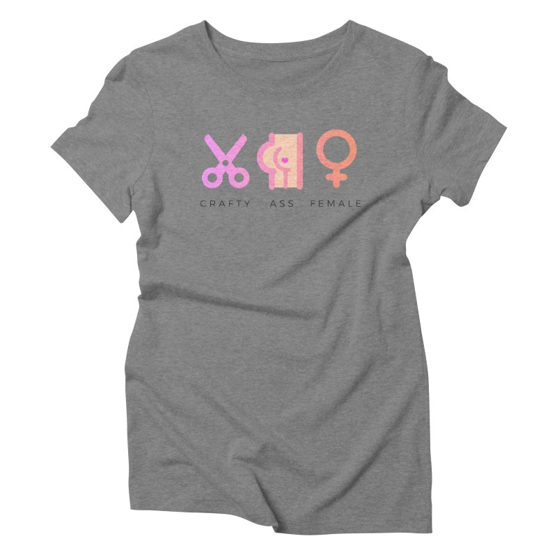Peach in Women's Triblend T-Shirt Grey Triblend by Crafty Ass Female's Merch Shop