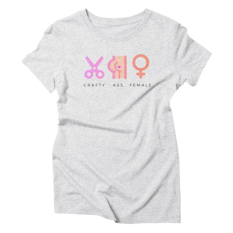 Peach in Women's Triblend T-Shirt Heather White by Crafty Ass Female's Merch Shop