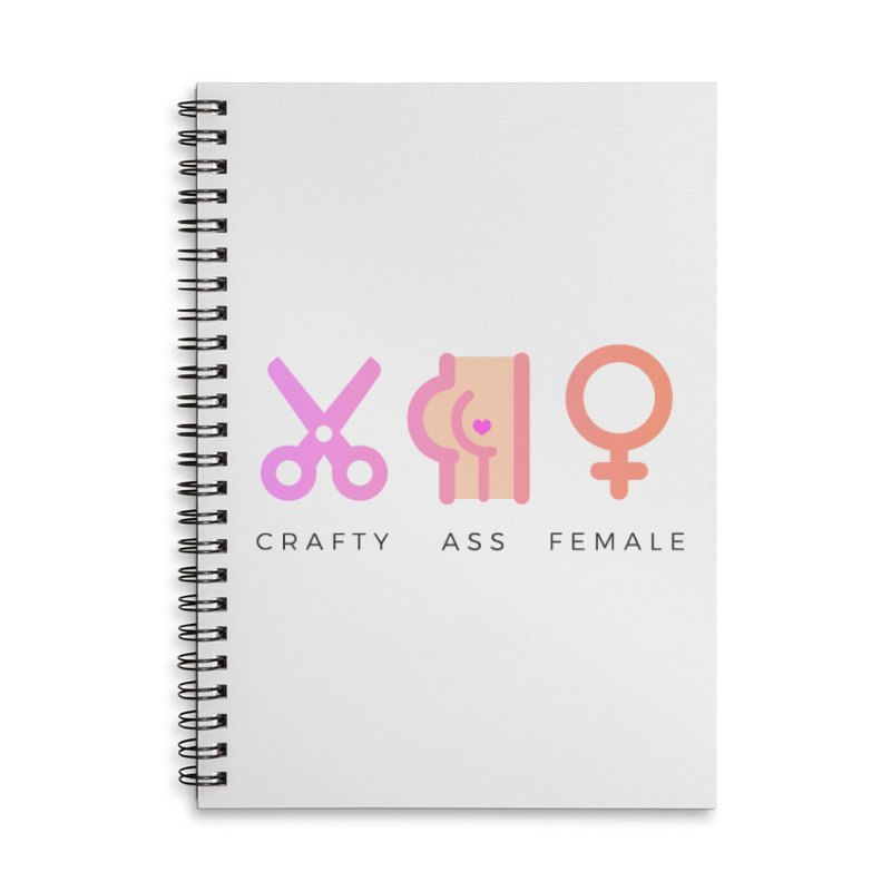 Peach in Lined Spiral Notebook by Crafty Ass Female's Merch Shop
