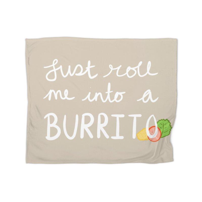 Blankets + Burritos in Fleece Blanket Blanket by Crafty in Katy