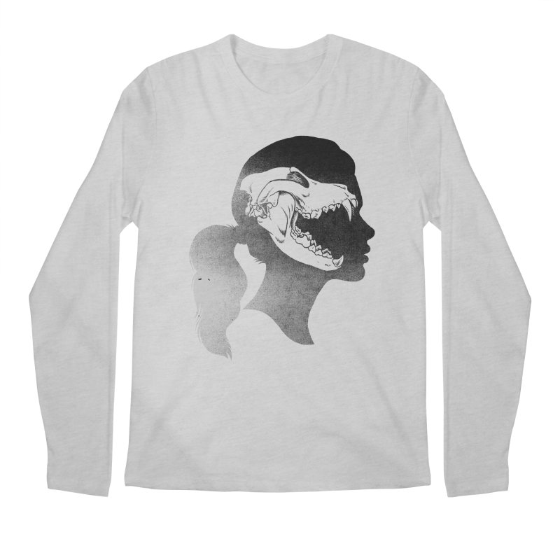 Wolf Girl Men's Longsleeve T-Shirt by craighorky's Shop