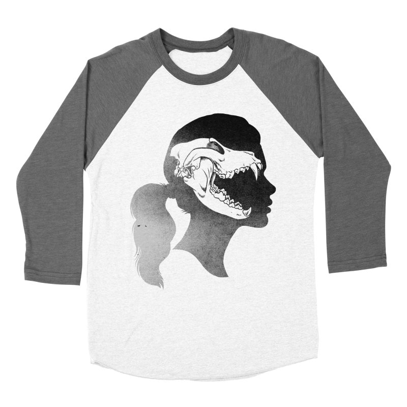 Wolf Girl Men's Baseball Triblend T-Shirt by craighorky's Shop