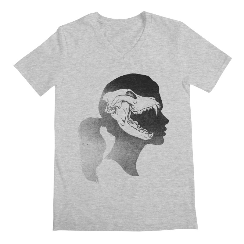 Wolf Girl Men's V-Neck by craighorky's Shop